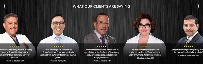GrowthMed Medical Marketing Client Reviews